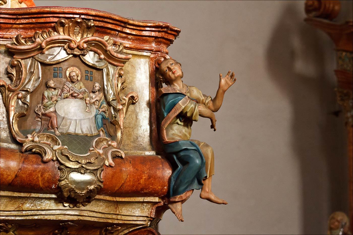 Интерьер костела Преображения Господня в Таборе