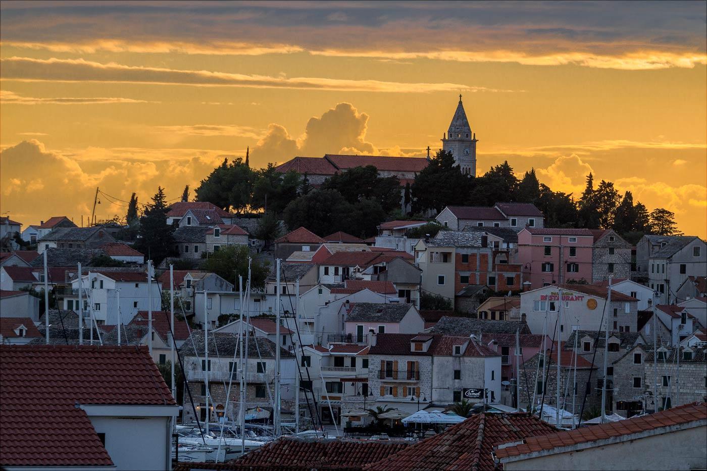 Закат в Примоштене, Хорватия