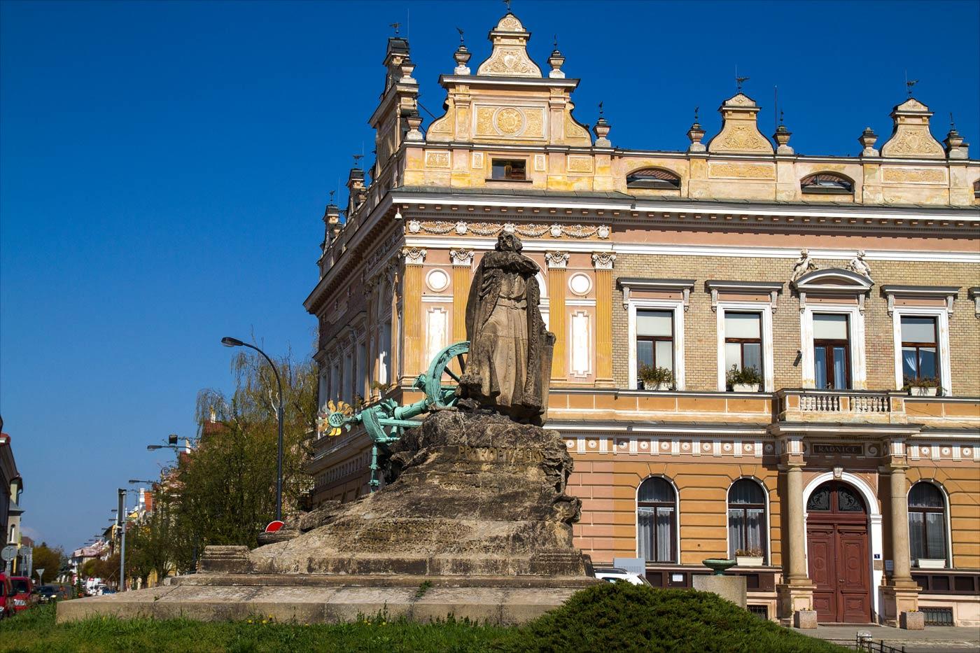 Памятник гуситскому военачальнику Прокопу Великому в Чешском Броде