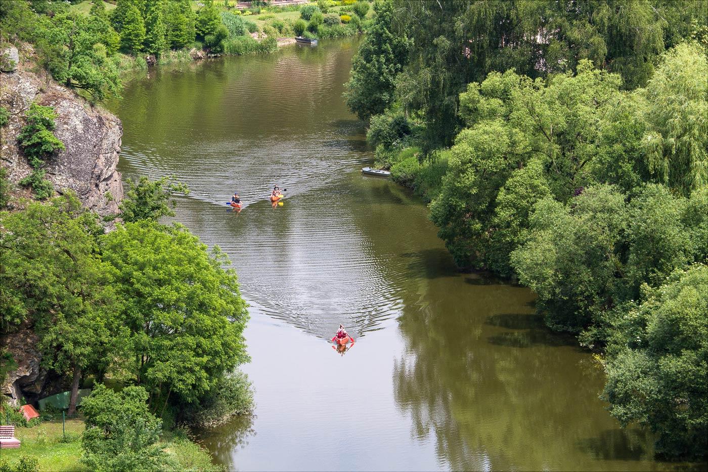Бехине, вид от дворца на реку Лужнице