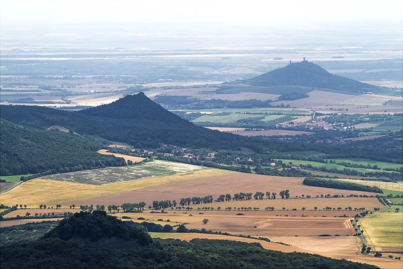 Вид с горы Милешовка