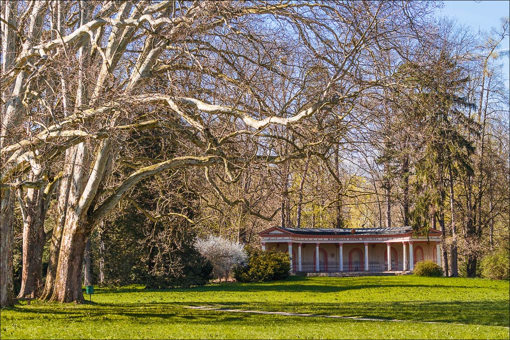 Чехия, Кромержиж (Kroměříž), дворцовый парк (Podzámecká zahrada), помпейская колоннада (Pompejánská kolonáda)