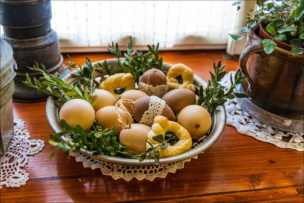 Чехия, пансион Брусенка в Моравии, пасхальные украшения