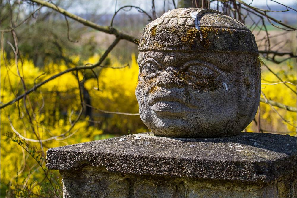 Чехия, Моравия, каменный идол в зоопарке Злин (Zoo Zlin)