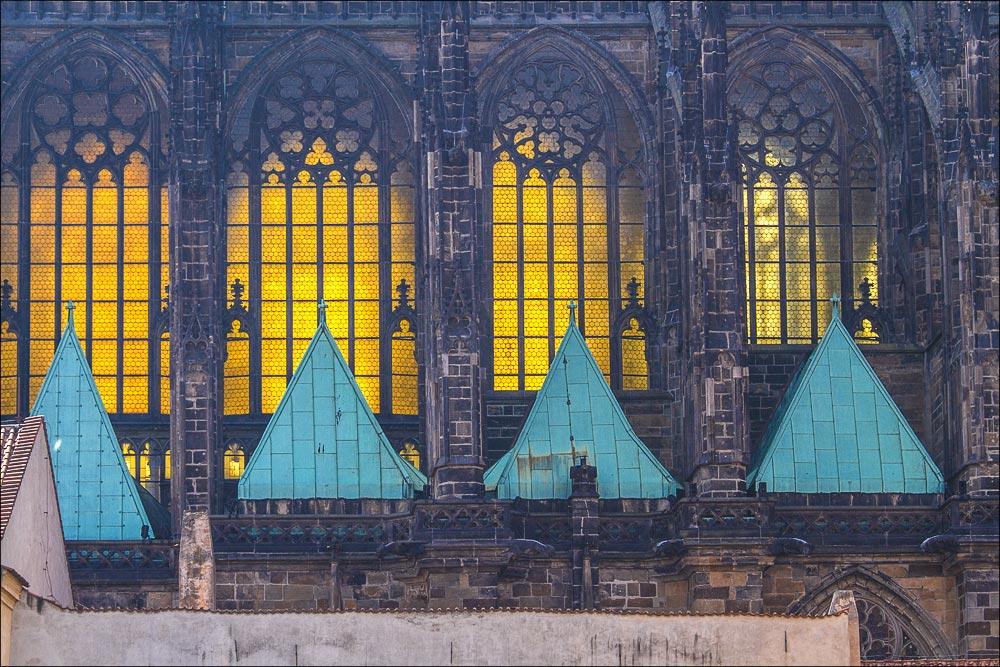 Чехия. Витражи собора Св.Вита на Пражском граде