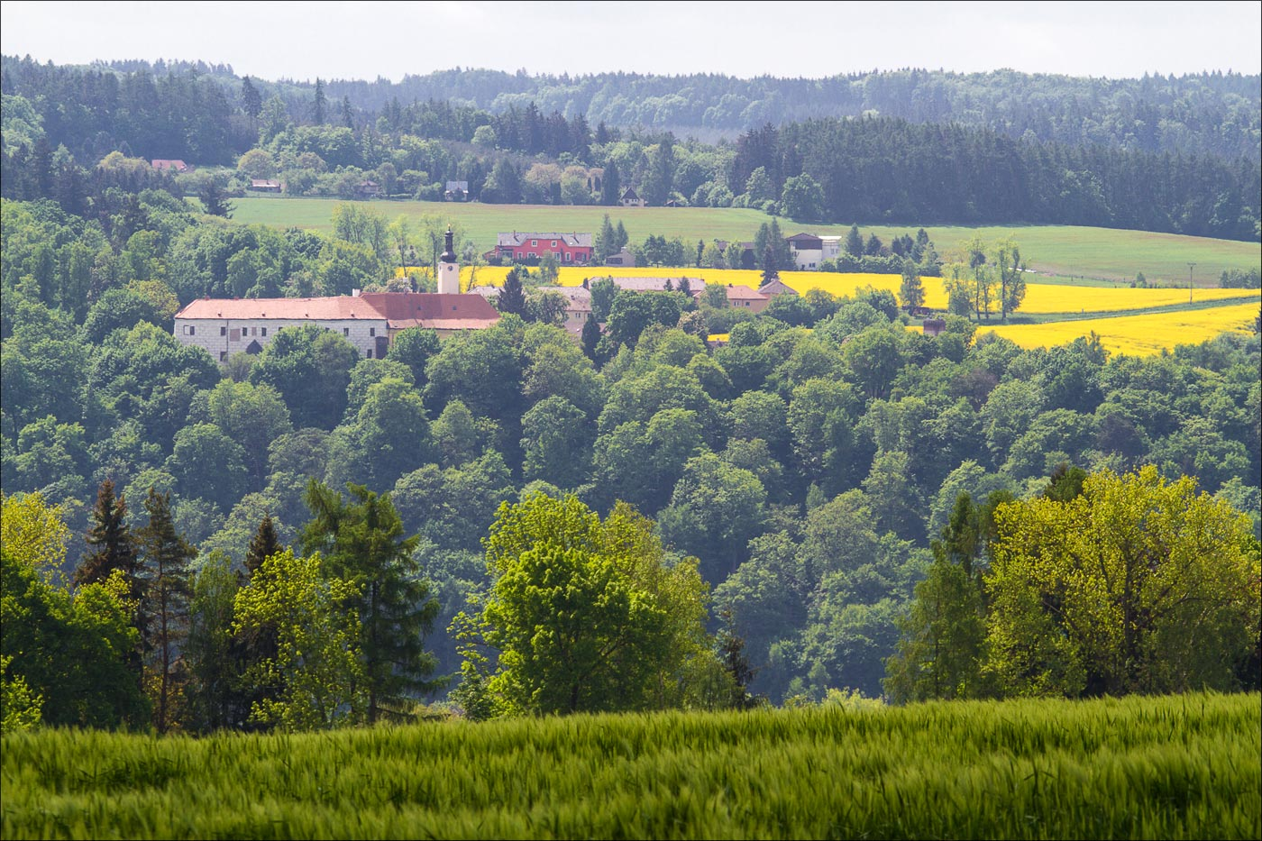 Чехия. Вид на замок Коморни Градек у Ондрейова