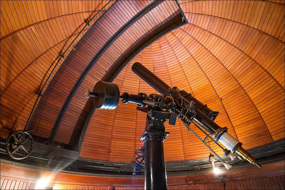 Исторический телескоп фирмы Reinfelder & Hertel, Центральная башня исторического ареала, Астрономическая обсерватория в Ондржейове, Чехия, Астрономический институт Академии Наук Чешской Республики