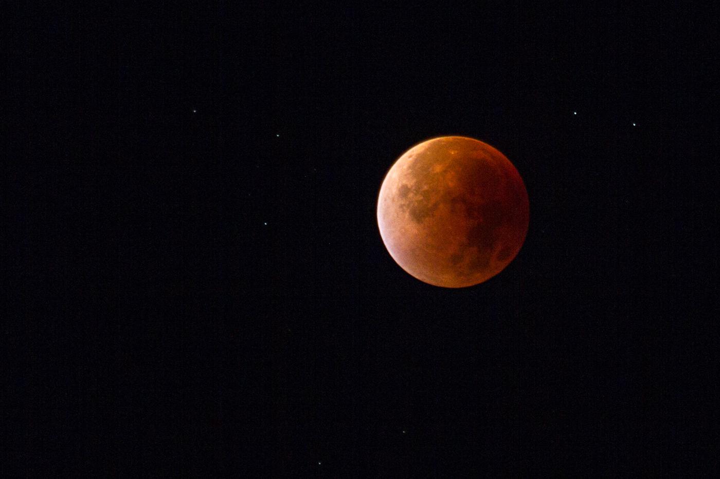 Полное лунное затмение, суперлуние, 28 сентября 2015 г.