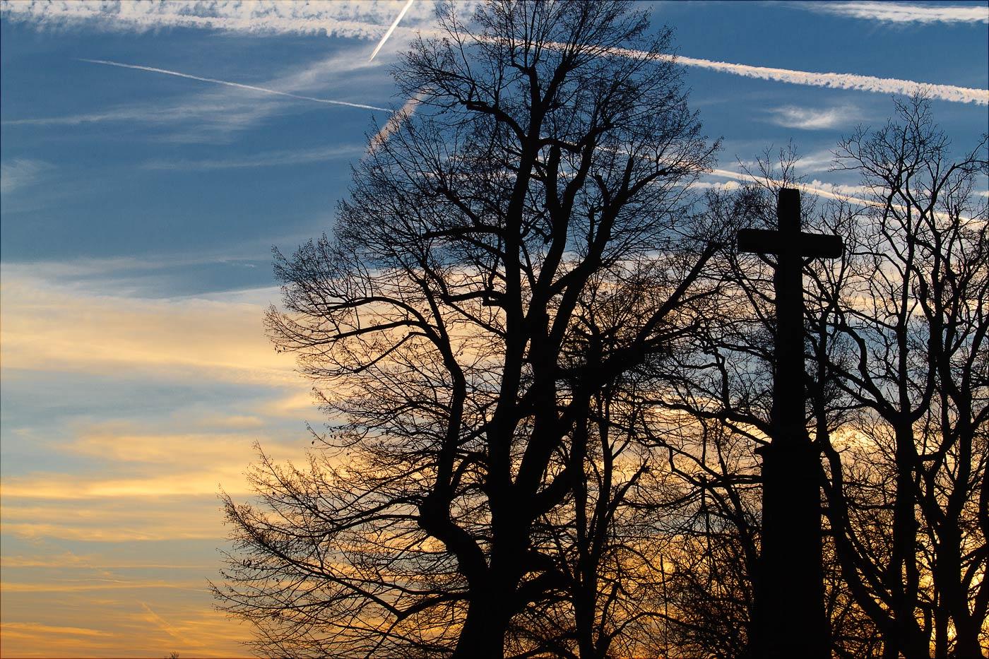 Закат на горе Святой Гостин, Моравия