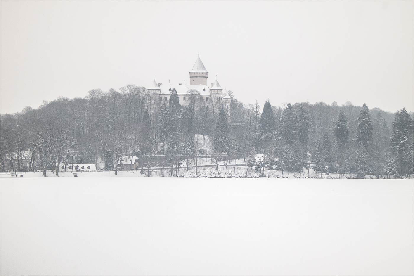 Конопиштский замок зимой