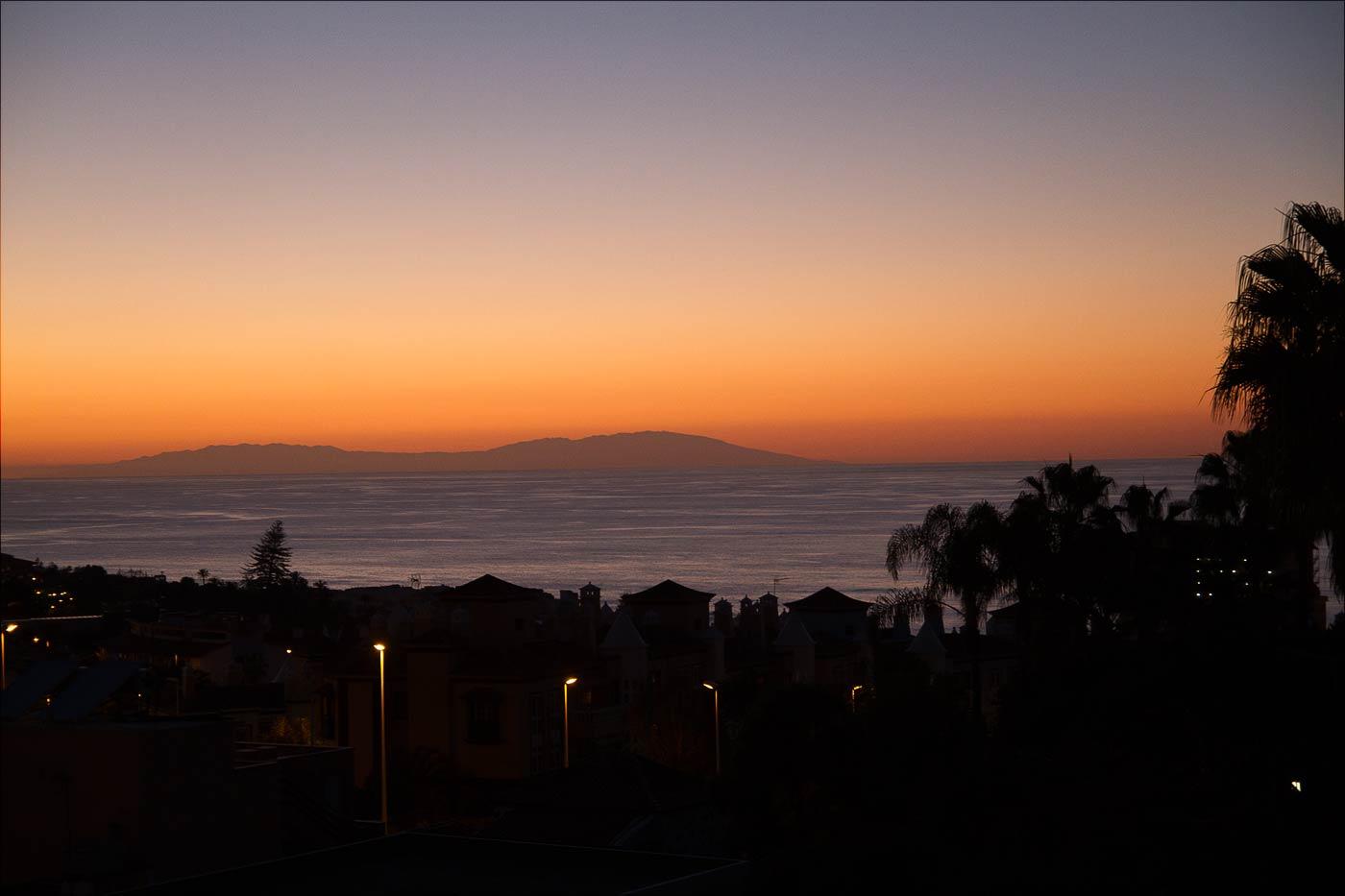 Закат на Тенерифе. В этот день месяц назад