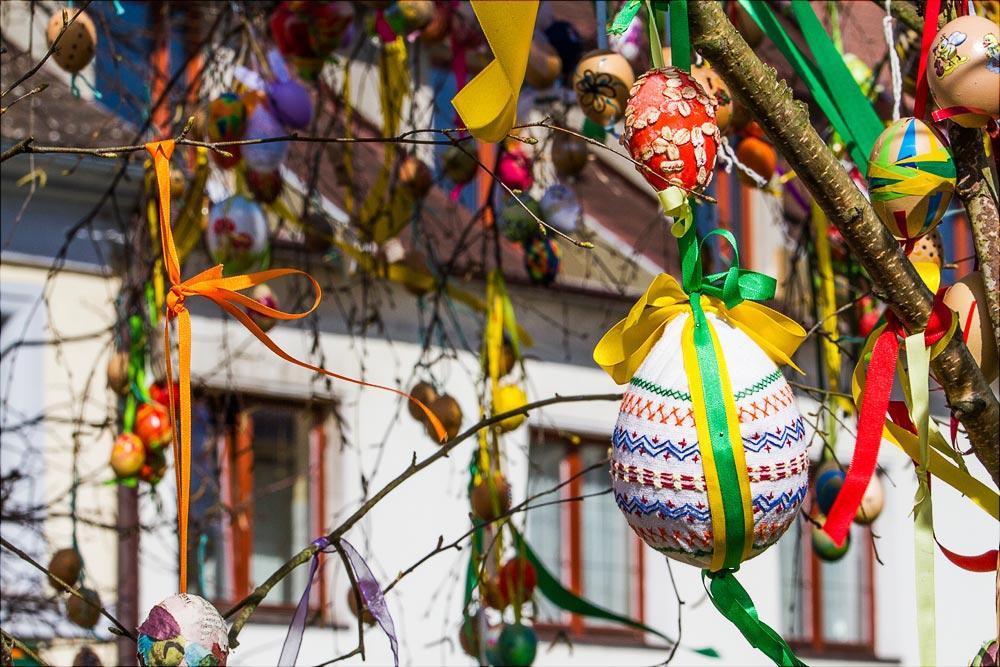 Пасхальные украшения, Бенешов, Чехия | Velikonoční dekorace, Benešov, Střední Čechy