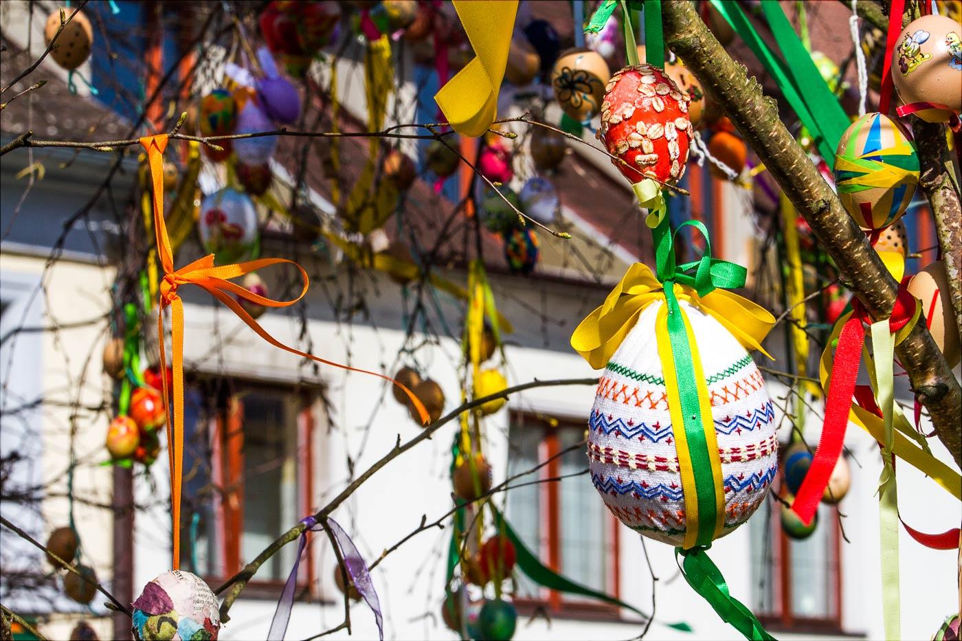 Пасхальные украшения в Бенешове