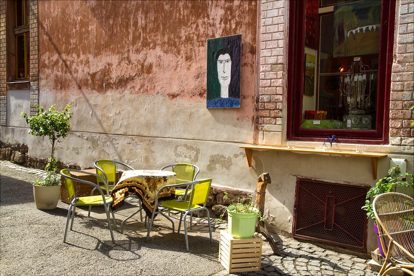 Уличное кафе в Таборе