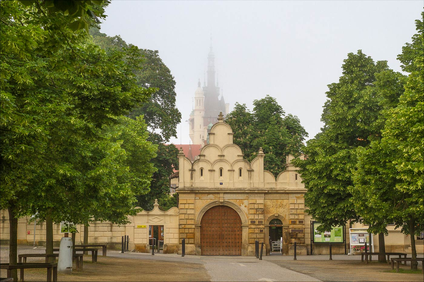 Туманное утро у Пругоницкого замка