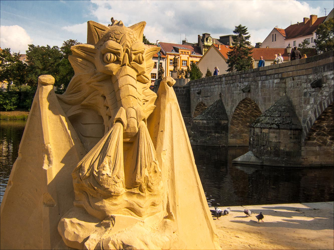 Выставка песчаных фигур в Писеке
