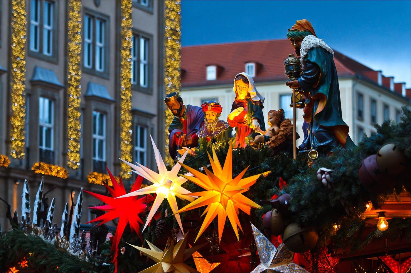 Рождественский рынок в Дрездене