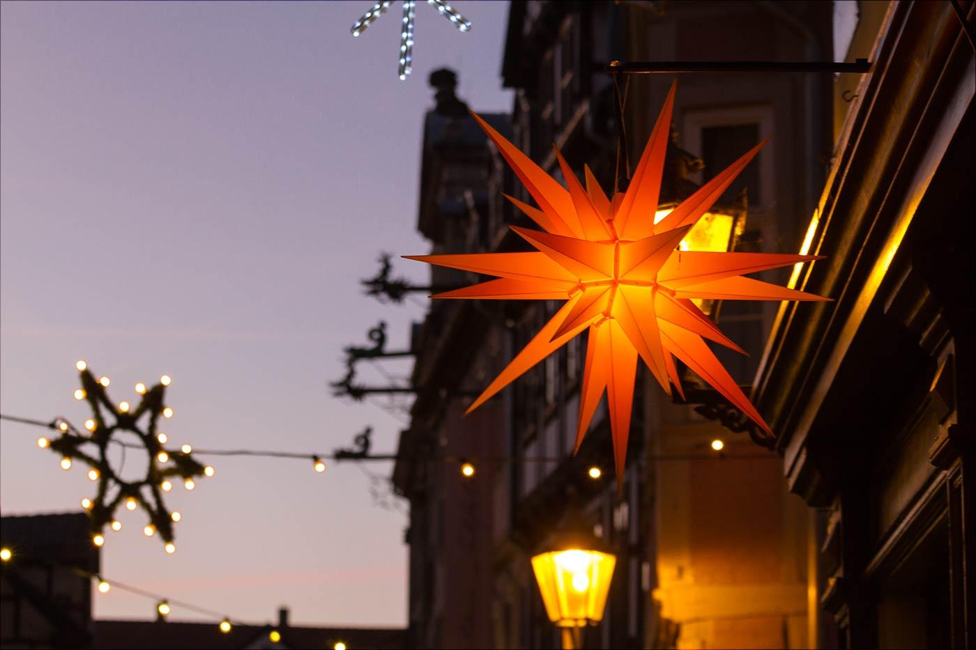 Гернгутская звезда, адвентная иллюминация в Вернигероде
