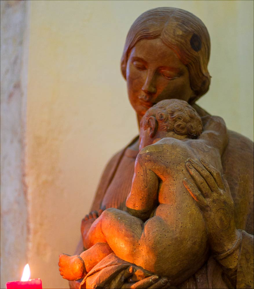 Мадонна с младенцем, костел Св. Иакова и Филиппа на холме Хвойен у Конопиште