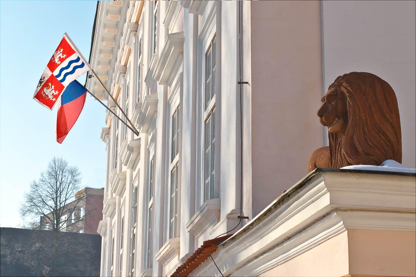 Лев на вратах у Влашимского замка