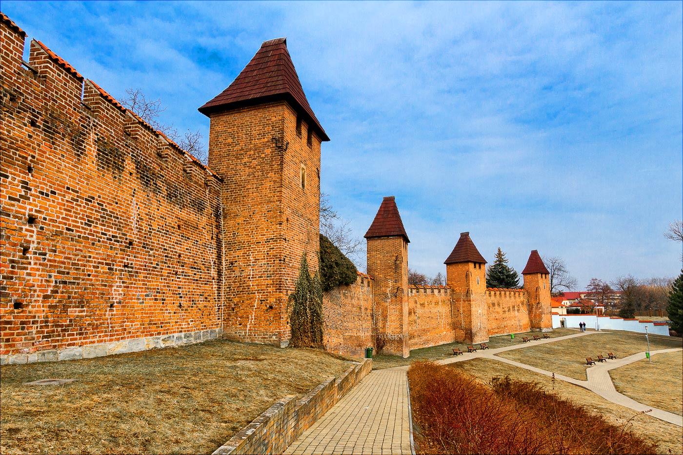 Нимбурк, городские укрепления