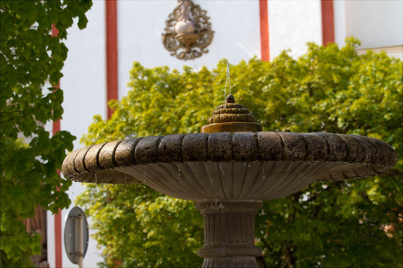 Табор, фонтан в старом городе