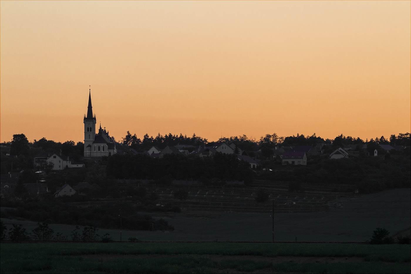 Теплый вечер в Южной Моравии