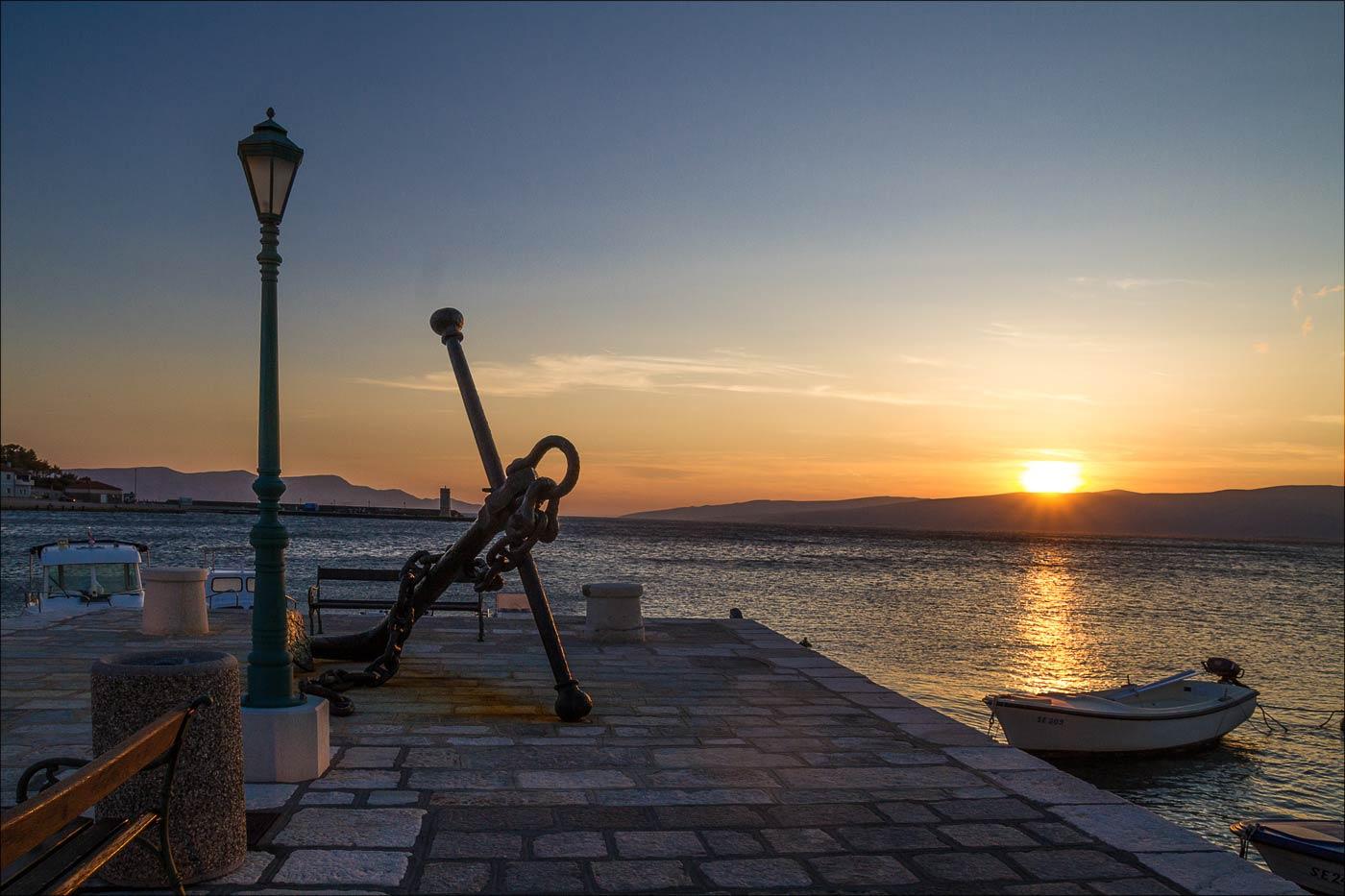 Закат, Сень, Хорватия