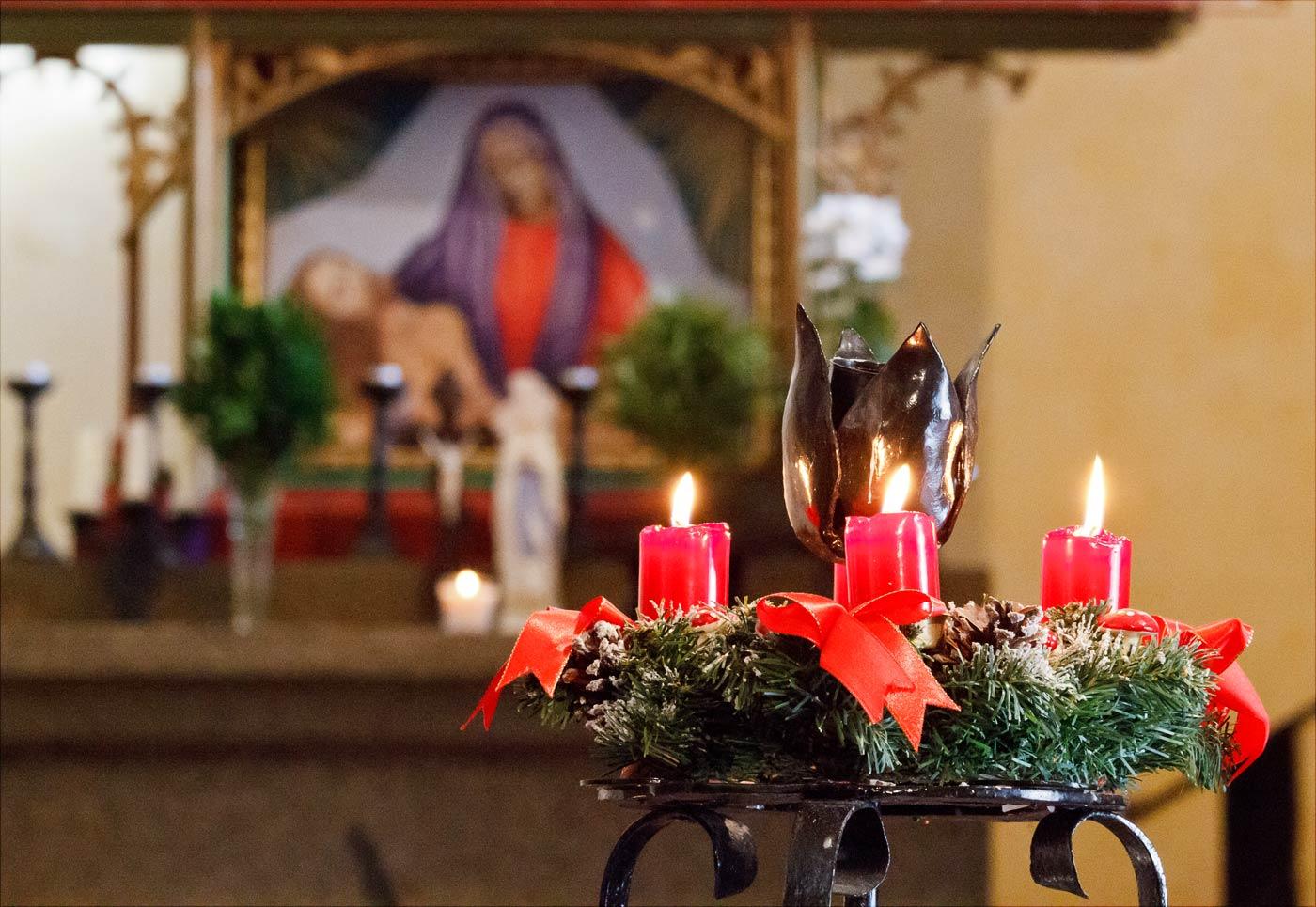 Старочешское рождество в костеле Хвойен