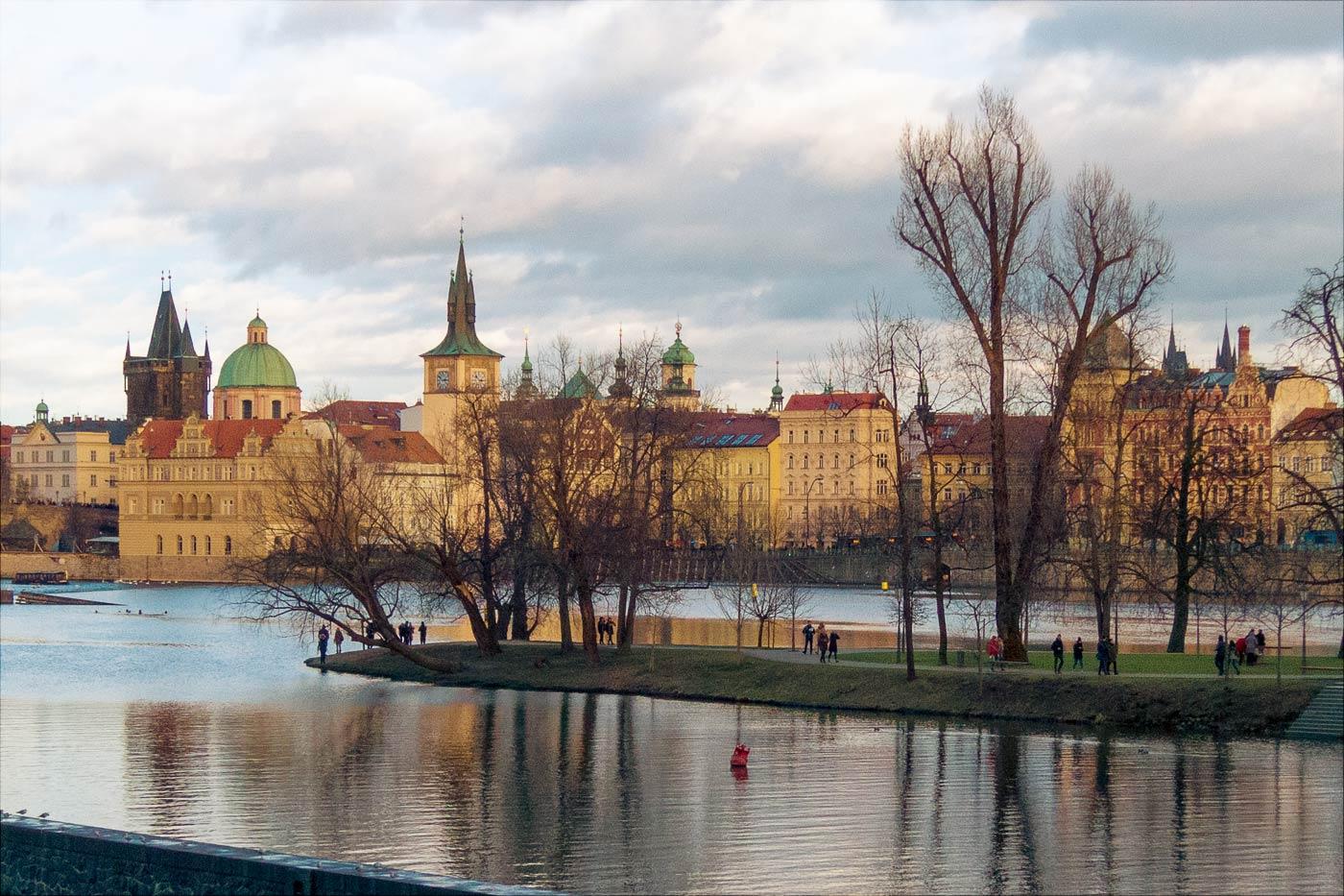 Зимний день в Праге, Стрелецкий остров