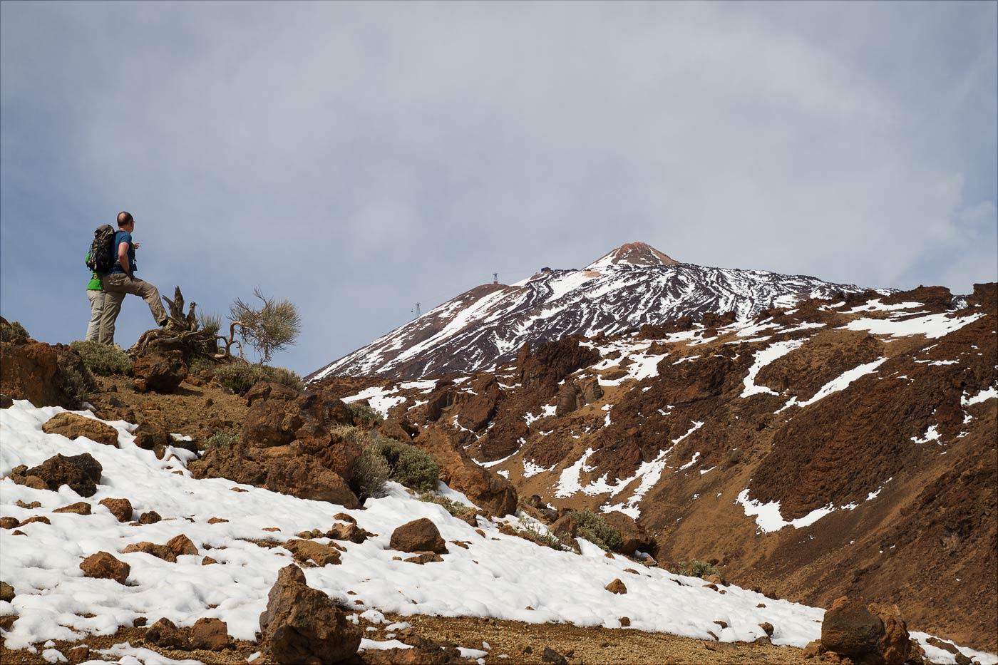 Тенерифе, снег в начале марта на вулкане Тейде