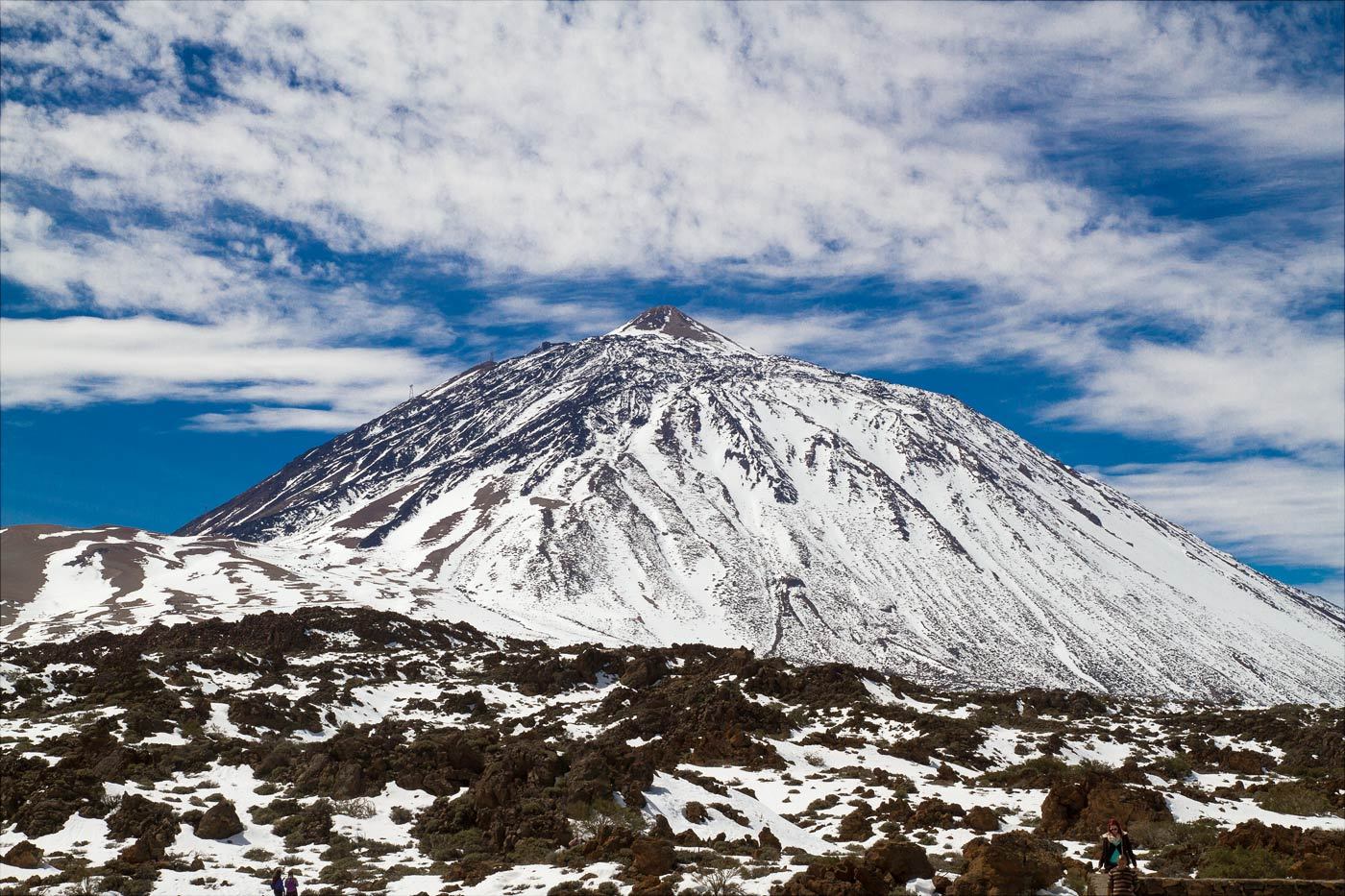 Тейде, заснеженный восточный склон вулкана