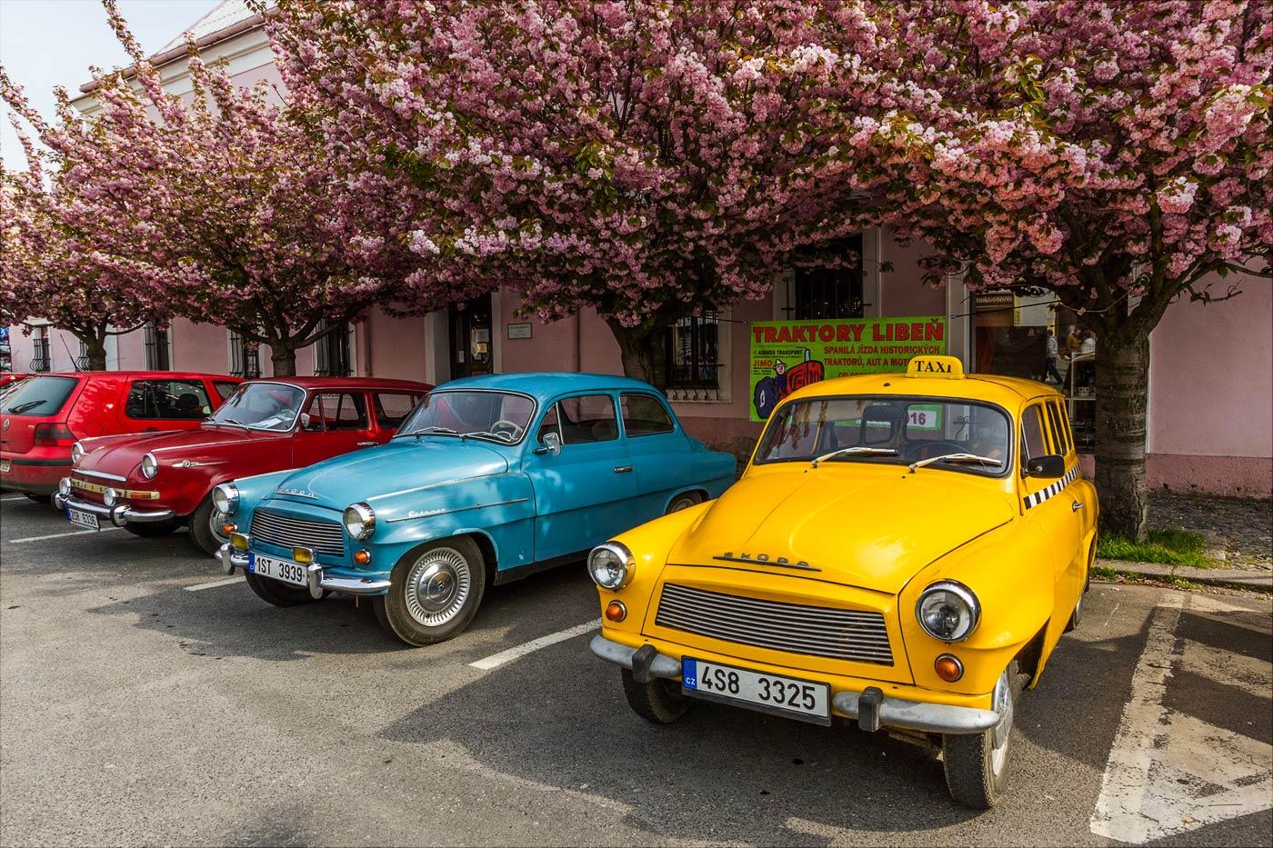 Первомайский слет  автомобильных ветеранов в Чешском Броде