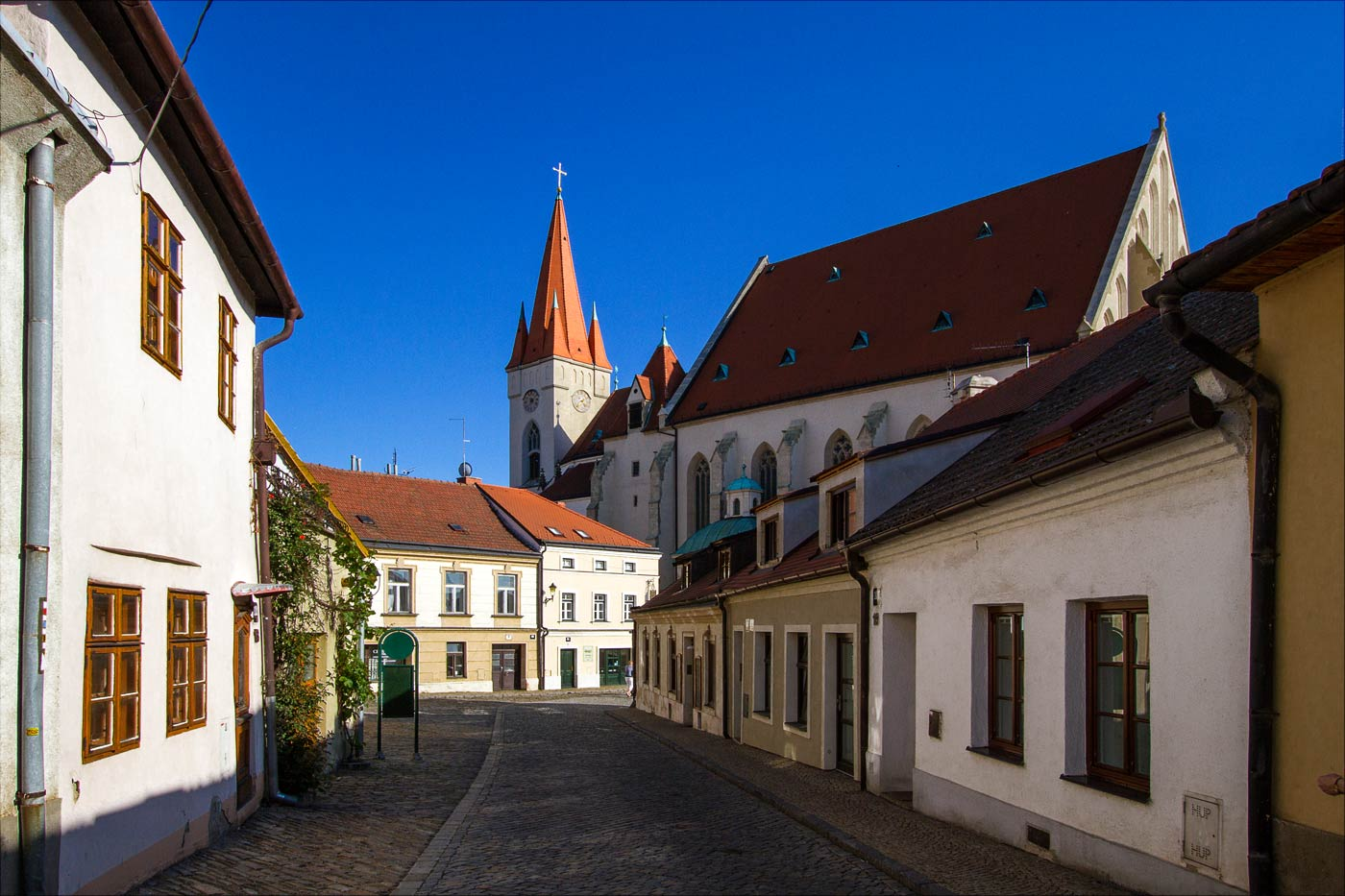 Старая улочка в центре Зноймо