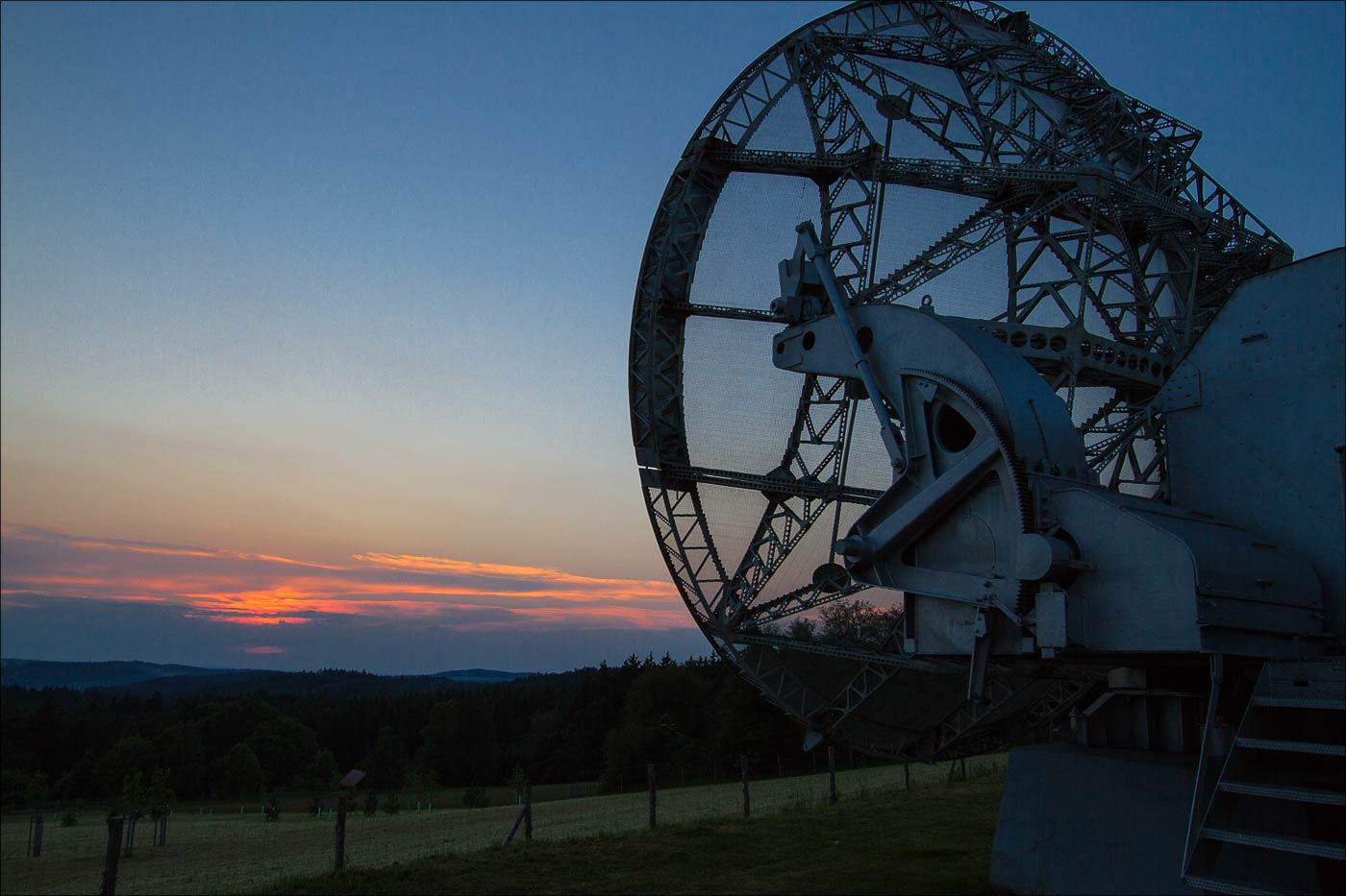 Закат в астрономической обсерватории в Ондржейове