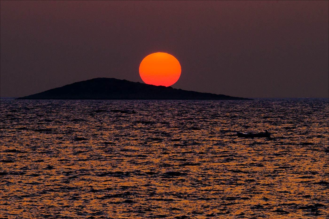 Закатный лов рыбы, Примоштен, Хорватия