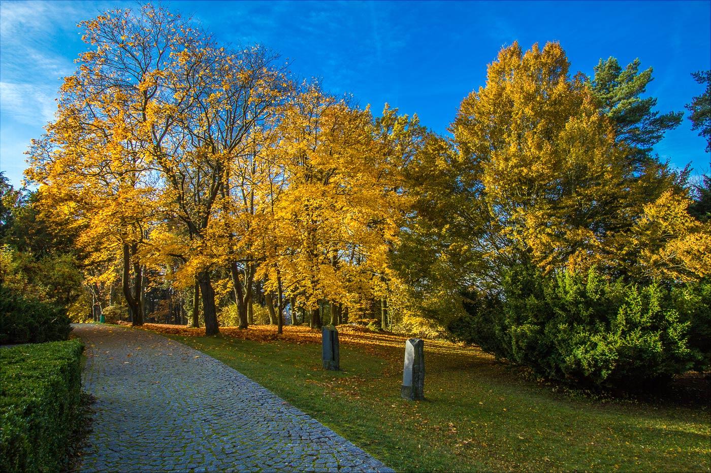 Осень в астрономической обсерватории в Ондржейове