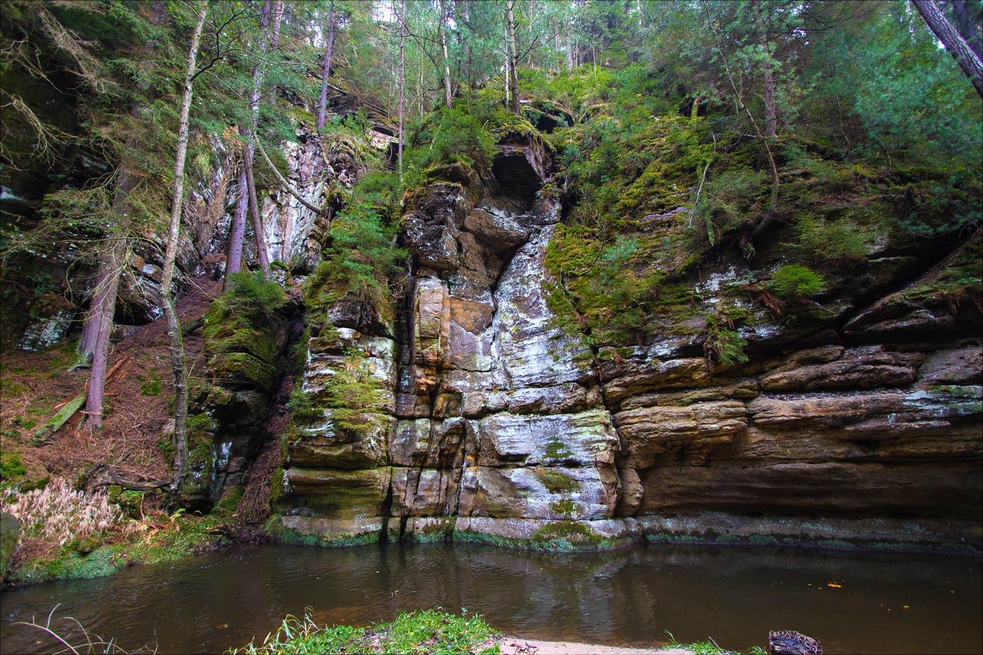 Павлинин каньон, Чешская Швейцария