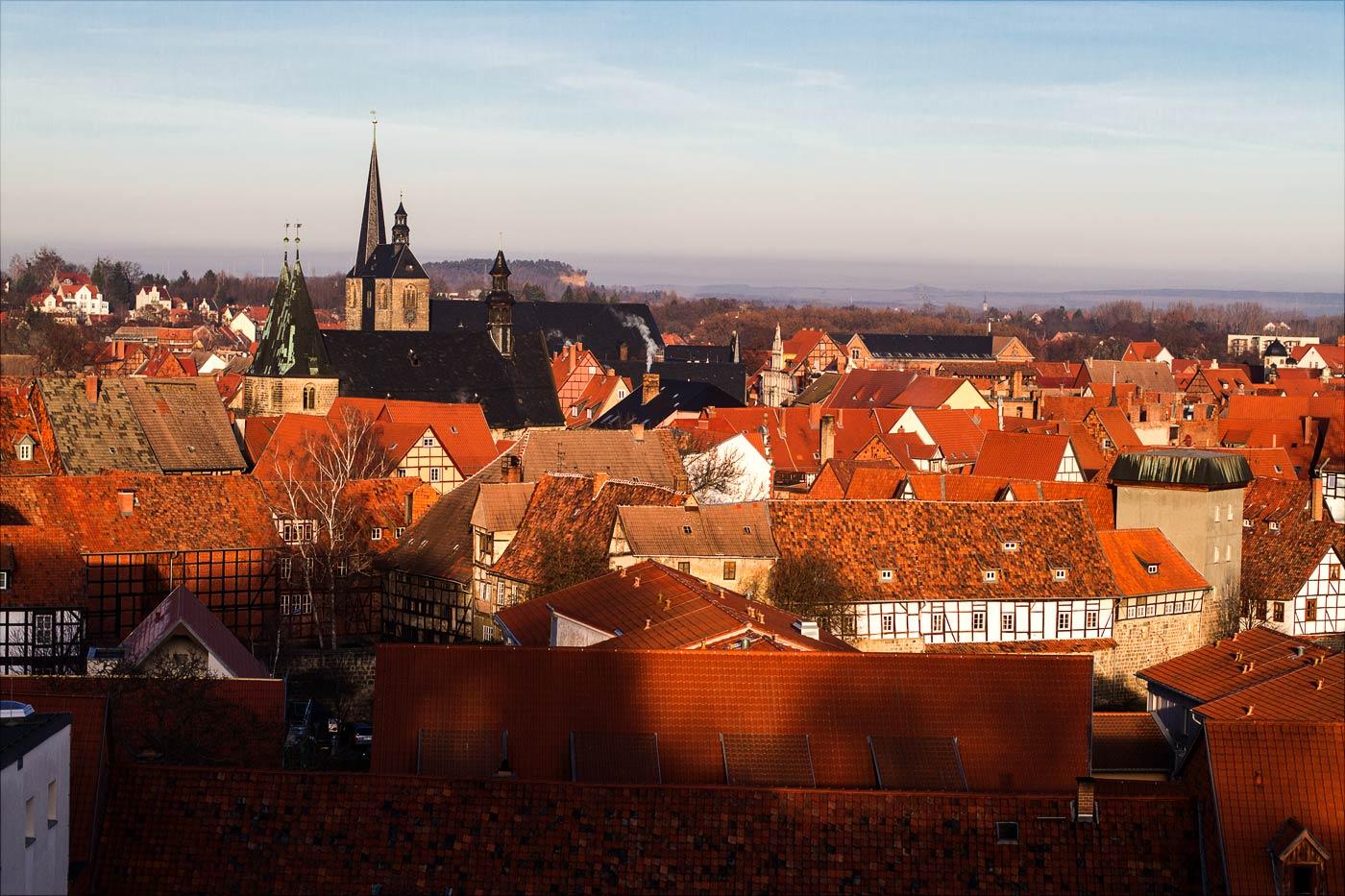 Крыши старого города, Вернигероде, Германия
