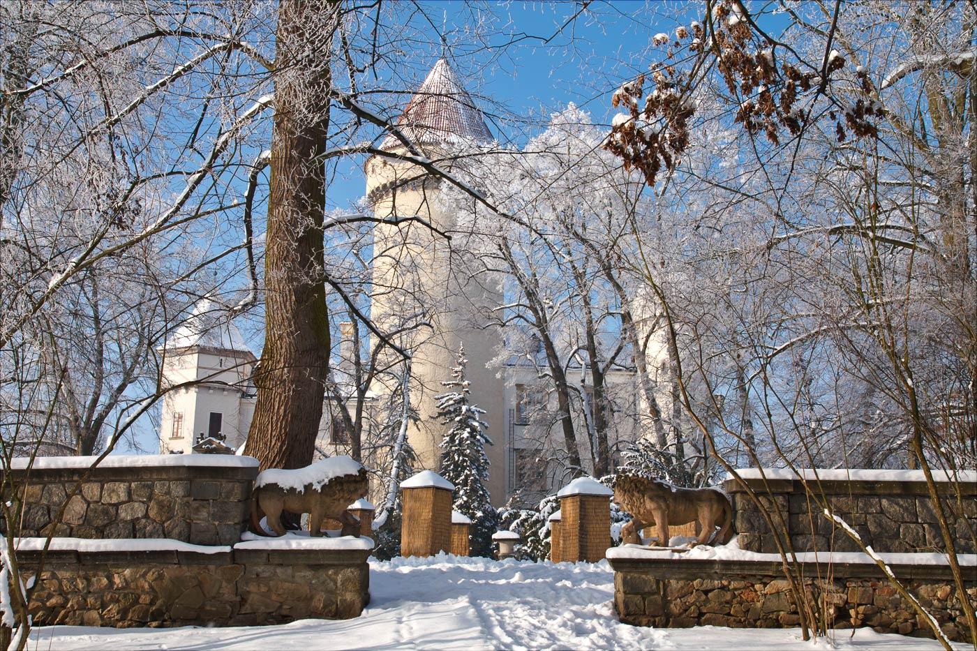 Замок Конопиште зимой