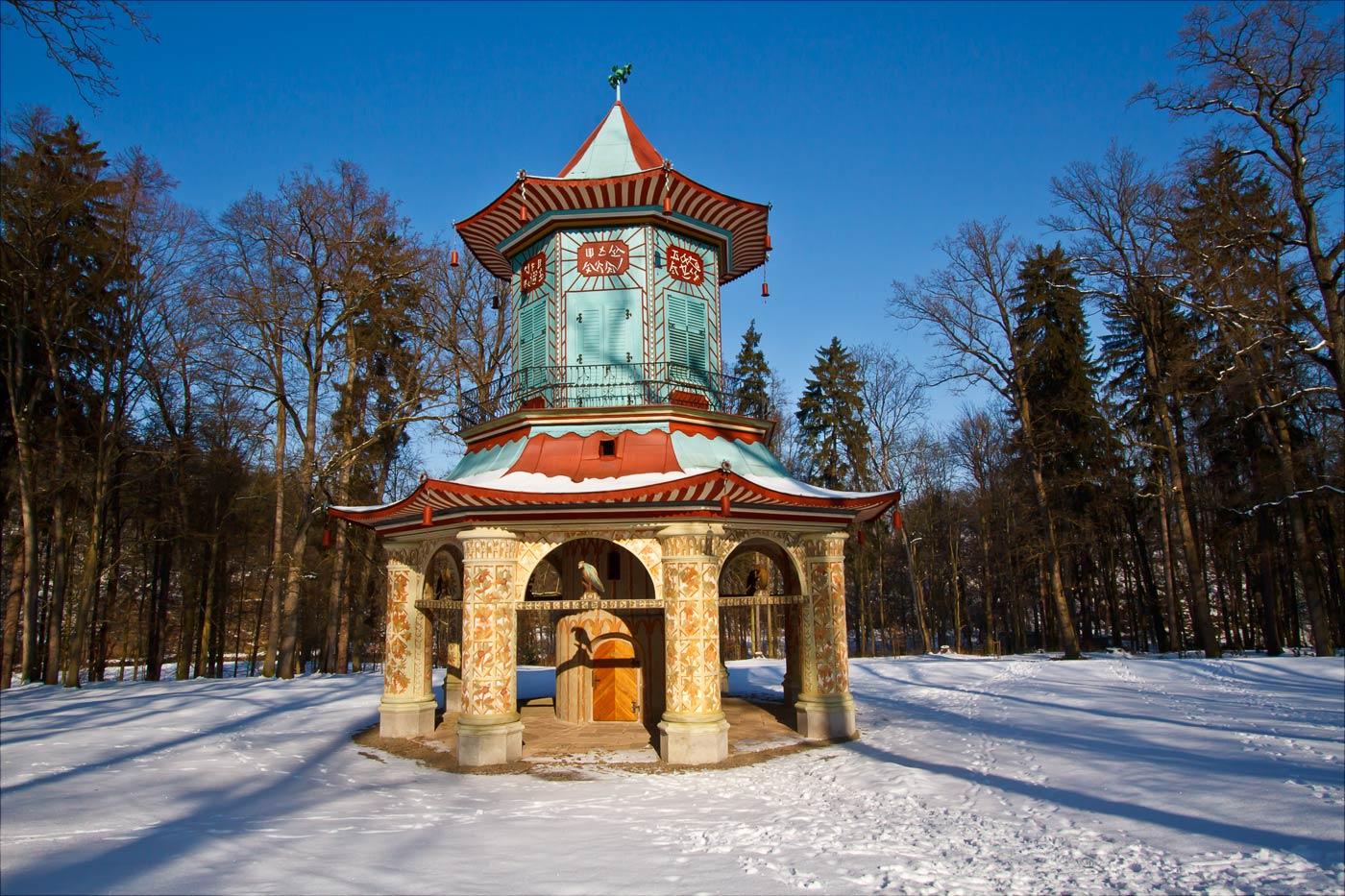 Китайский павильон в парке Влашим