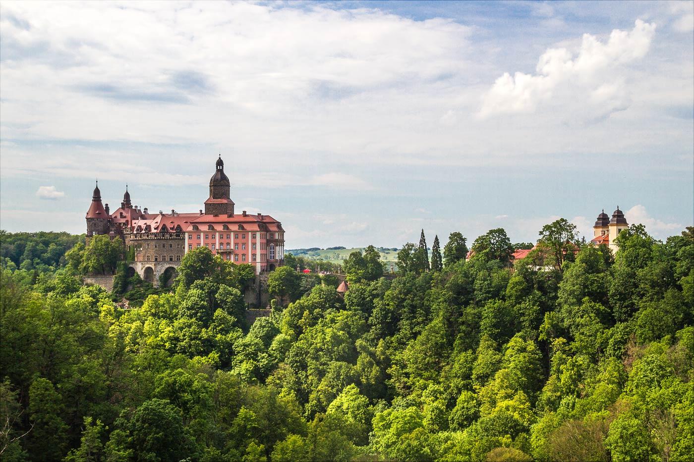 Замок Ксёнж, приграничная с Чехией Польша