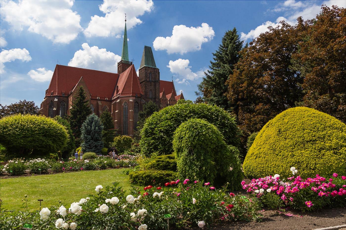 Вроцлав, ботанический сад на Тумском острове