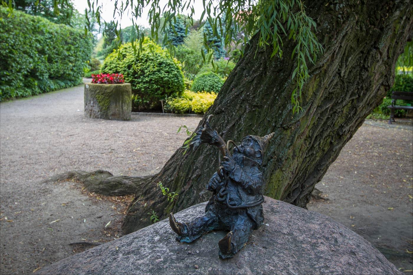 Вроцлав, гном в ботаническом саду