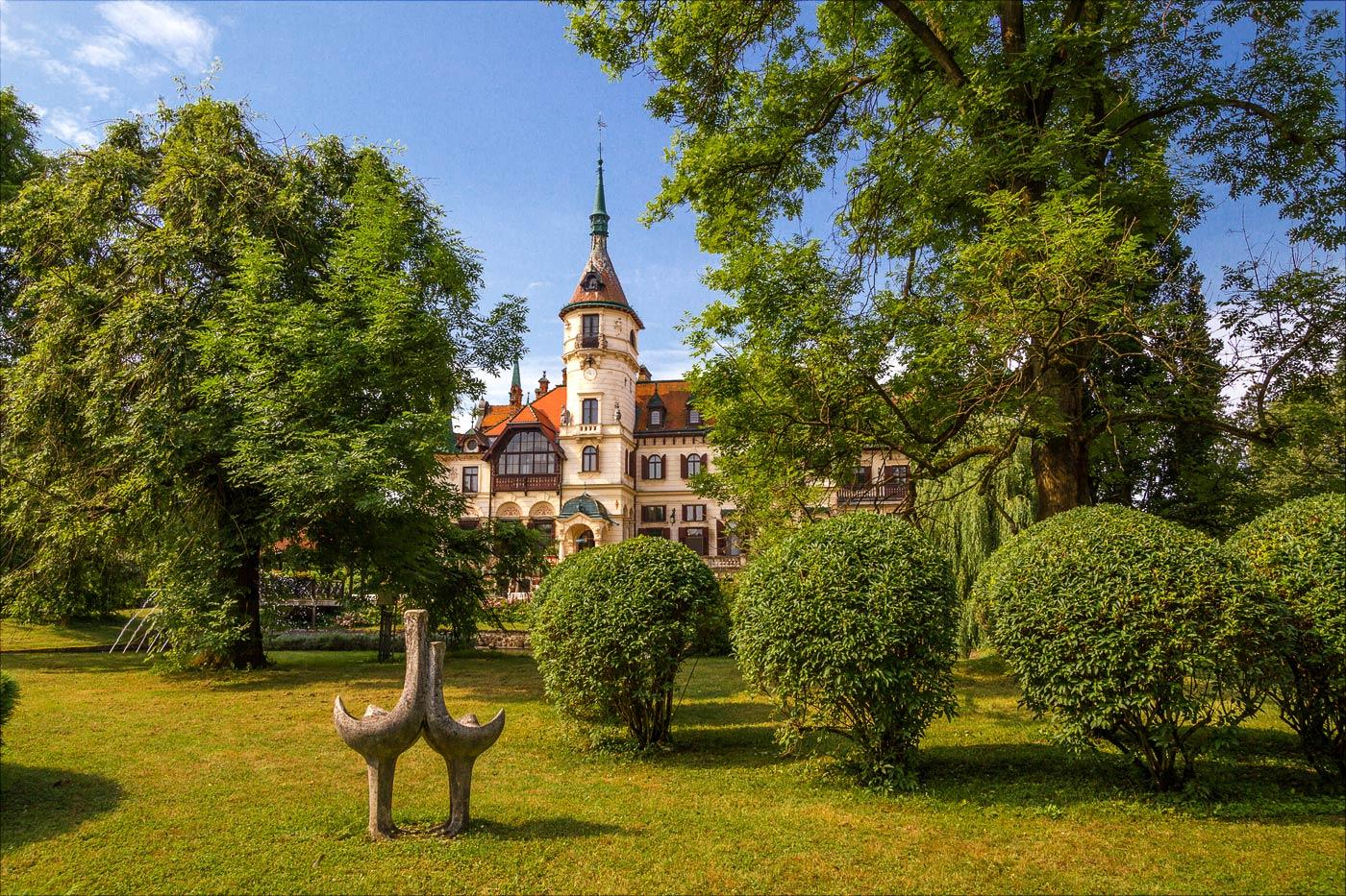 Дворец Лешна в Злинском зоопарке