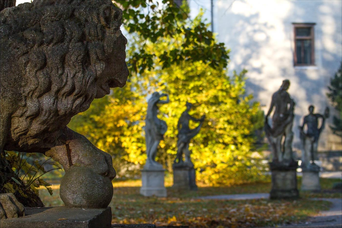Осень в парке замка Конопиште