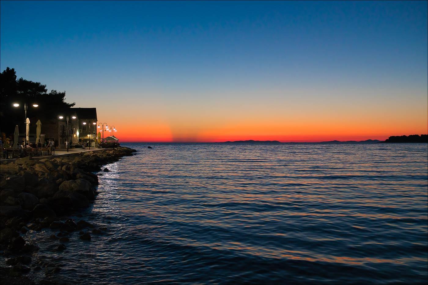 Закат. Примоштен, Хорватия