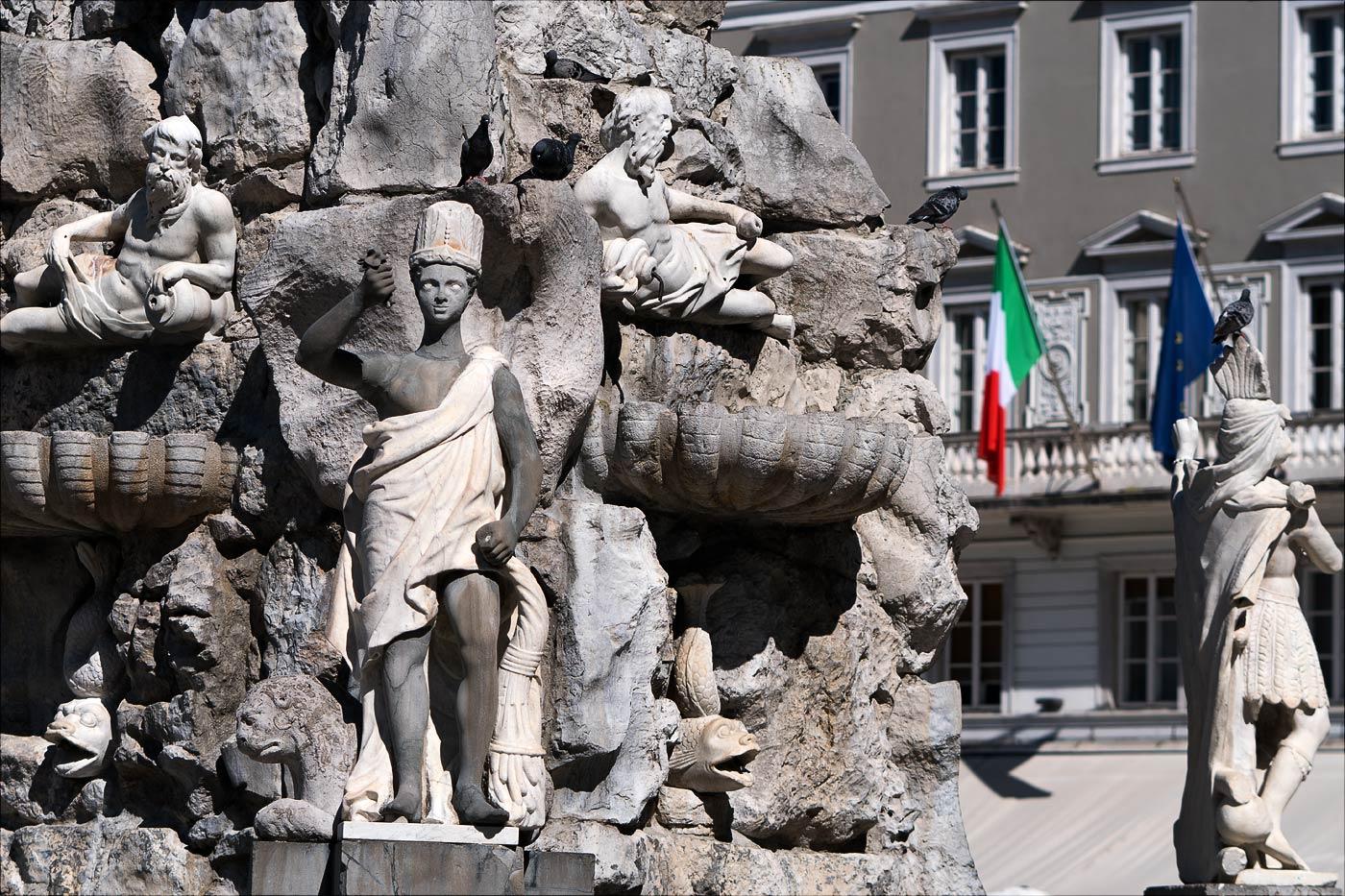 Фонтан четырех континентов, Триест, Италия