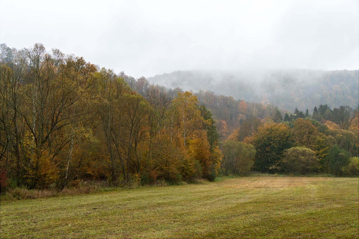 Осенние туманы, Южная Моравия