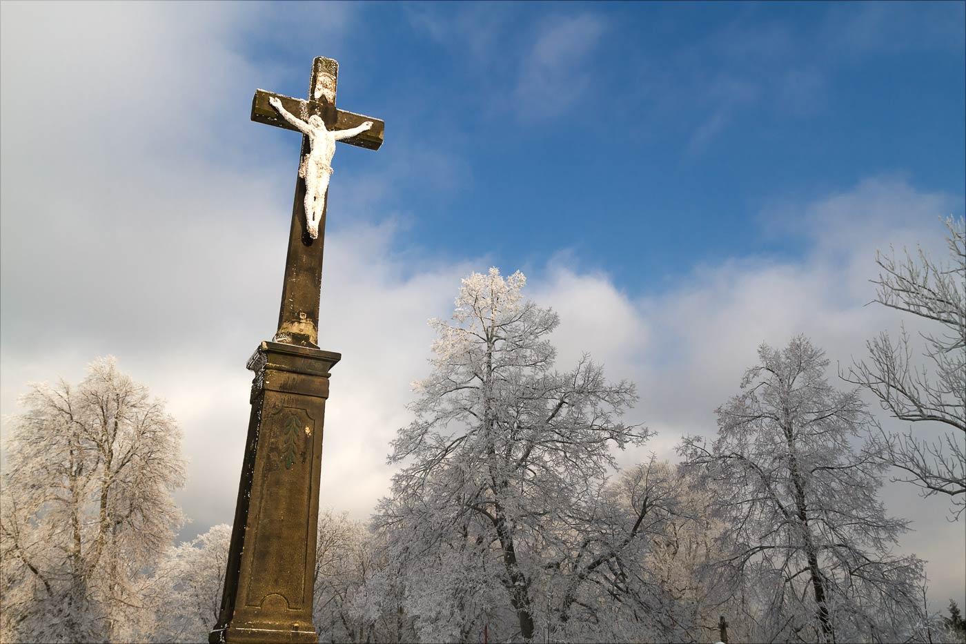 Распятие, гора Святой Гостин в Моравии